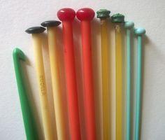 Vintage knitting needles