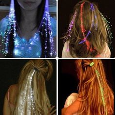 LED Rave Hair Extensions from RaveBabeBoutique on Etsy. Shop more products from RaveBabeBoutique on Etsy on Wanelo.