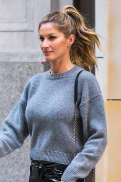 How Gisele Bündchen Turns the Power Ponytail Into a Polished Statement