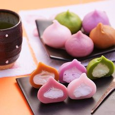 Wagashi- wagashi is a sweet eaten during a green tea ceremony