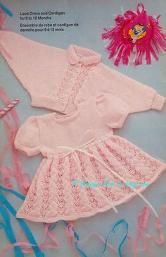 Baby 4ply Short Sleeve Dress and Jacket sizes 9 to 12 months