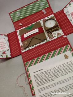 5 minutes of Christmas - Paper Crafts 🧶 Christmas Paper Crafts, Stampin Up Christmas, Christmas Time, German Christmas, Homemade Gifts, Diy Gifts, Diy Presents, Stamping Up, Xmas Cards