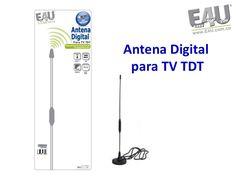 Antena Digital para TDT, Numerosos canales  libres de costo, e independientes de sus televisión por cable o satelital.