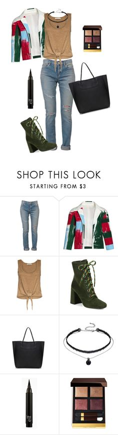 """""""Untitled #134"""" by thesilverloutos ❤ liked on Polyvore featuring Yves Saint Laurent, Canvas by Lands' End, Alice + Olivia, Prada and Tom Ford"""