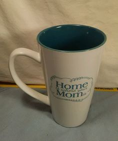 10 Strawberry Street White Giant Latte Coffee Mug Cup HOME IS WHERE YOUR MOM IS  #10StrawberryStreet