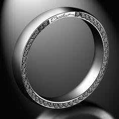 Wedding ring Subtile, white gold and diamonds - Bachet White Gold Wedding Rings, Wedding Rings For Women, White Gold Rings, Wedding Bands, Vintage Engagement Rings, Diamond Engagement Rings, Solitaire Engagement, Alliance Ring, Kentucky