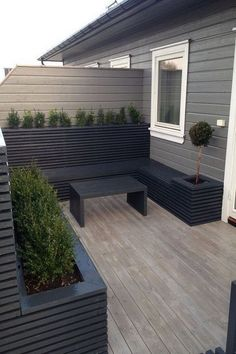 Cool Modern Small Terrace Gardening Ideas Can Copy ., Informations About Cool Modern Small Terrace Gardening Ideas Can Copy Small Patio Design, Back Garden Design, Terrace Design, Backyard Patio Designs, Backyard Landscaping, Backyard Ideas, Backyard Privacy, Fence Design, Patio Ideas
