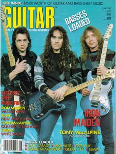 Iron Maiden on the Cover of Guitar for the Practicing Musician