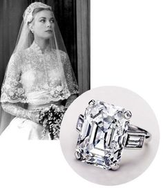 Grace Kelly's emerald cut diamond engagement ring