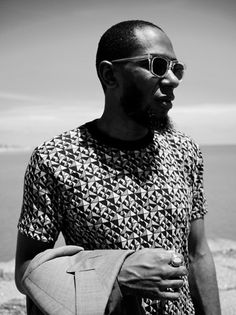 Mos Def, alias Yasiin Bey stars in the Fall/Winter campaign of Adrien Sauvage. Mos Def, Hip Hop Rap, Well Dressed Men, Black And White Photography, Dapper, Black Men, Sexy Men, Hot Guys, Menswear