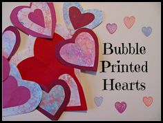 The Chocolate Muffin Tree: Bubble Printed Valentine Hearts