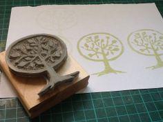 Tree carved by Kathy Gennari.