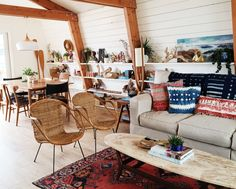 Clean white walls and a frame of honey-toned wood are complemented by a curated collection of textiles, fresh designs, and natural materials. The Beach Lodge is everything we love about modern bohemian design, and the sunny California home of our dreams. Photo Credit: via Tiffany Caliva Owner Tiffany Caliva (winner of our #StyleMavenMe Instagram contest) …