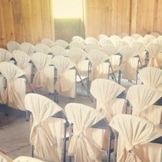 Chair cover idea. Neat idea for a beach themed wedding?!