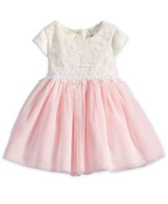 Rare Editions Lace & Tulle Dress, Baby Girls (0-24 months) | macys.com
