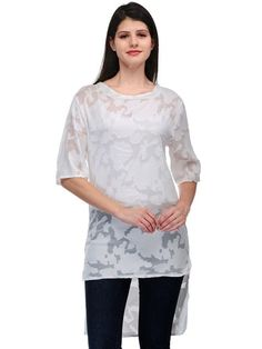 White Long Top #HighLow #Tunics #ShopNow #Fashionaffair