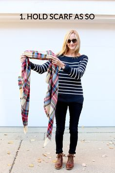 How to tie a blanket scarf- 10 ways