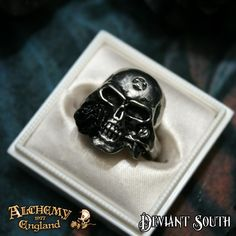 Alchemy Gothic AG-R16 Demi Alchemist pewter ring  A symbol of strength, wisdom and achievement; a portrayal of The Alchemist, with the impossible black rose.