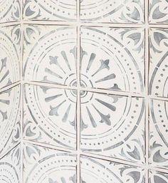 Reusable Laser-Cut Floor or Wall Tile Stencil tile ideas Large Floor Tiles, Stenciled Floor, Floor Stencil, Tile Stencils, Stenciling, Wood Burning Tool, Stencil Designs, Bathroom Flooring, Garage Flooring