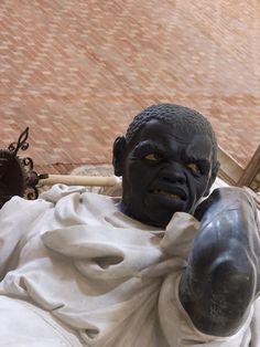 Basilica di Santa Maria Gloriosa dei Frari - Venice, Italy - Doge Giovanni Pesaro Monument - Angry Slave