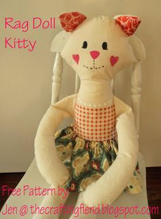 the craftingfiend: Kitty Rag Doll! (Free Pattern)
