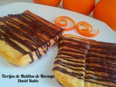 Torrijas de natillas de naranja - Recetas caseras y sencillas
