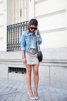 Sequined_Skirt-Denim_Jacket-Street_Style-outfit-11 by collagevintageblog, via Flickr