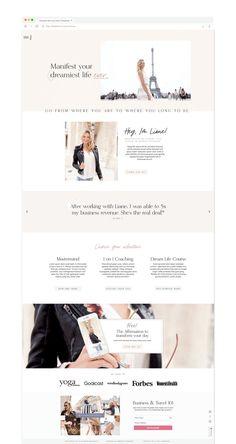 Romantic, dreamy, feminine, minimal website theme for life coaches — built for Showit. Easy to customize website templates! Website Design Inspiration, Logo Inspiration, Website Design Layout, Website Designs, Web Layout, Minimal Website Design, Design Layouts, Personal Website Design, Beautiful Website Design