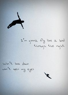 Chandelier - Sia  Lyrics  Im gonna fly like a bird... Beautiful image, portrays so much