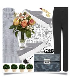 """""""Grey Yoins"""" by loveyoins ❤ liked on Polyvore featuring Whiteley, Christian Louboutin, Nearly Natural, Napa Home & Garden and philosophy"""