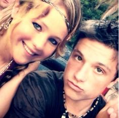 When they were just young kids, and Josh wore a weird necklace but this photo was like a foreshadowing of what was to come. | 27 Times Jennifer Lawrence and Josh Hutcherson Proved They Have The Best Offscreen Relationship Ever   this is so cute