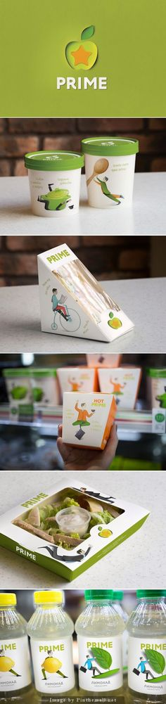 Prime Star - fast food restaurant chain. Designed by LINII Group. Pin curated by SFields99. #packaging