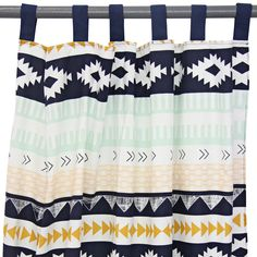Curtain Panels - Aztec Gold and Mint (set of 2)