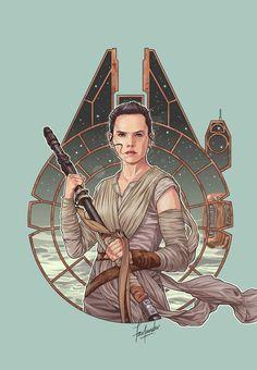 Fan Art from Star Wars Episode VII The Force Awakens #reyisbae