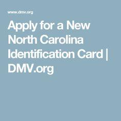 Apply for a New North Carolina Identification Card | DMV.org