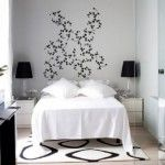 black and white bedroom ideas. Beautiful wall art