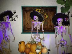 Jake, Palio & Rico! Halloween festivities. Skeletons
