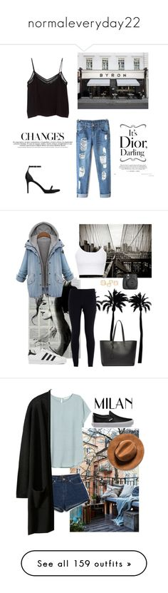 """""""normaleveryday22"""" by polyvoregoddess101 ❤ liked on Polyvore featuring MANGO, BYRON, Yves Saint Laurent, Dot & Bo, NIKE, Topshop, adidas, Fujifilm, Vans and Zara"""