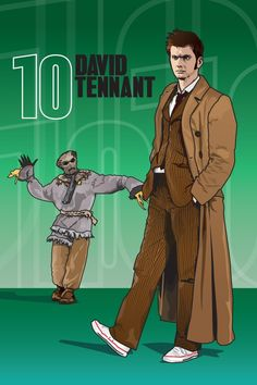"""Doctor Who - David Tennant and Scarecrow - 7 x 5"""" Digital Print"""