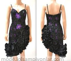 Prom Dress Size Small Black and Purple Sequins// Vintage Pageant Dress by Alyce Designs// Vintage Metallic Prom Dress by Hookedonhoney on Etsy Prom Party Dresses, Pageant Dresses, Formal Dresses, Metallic Prom Dresses, 80s Prom, 80s Dress, Satin Flowers, Vintage Tops, Dress Making