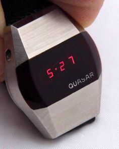 Led Watch, Time Design, Red Led, Wrist Watches, Vintage Watches, Digital Watch, Industrial Design, Display, Electronics