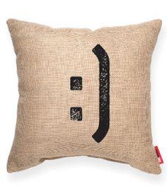 :] Burlap Decorative Pillow