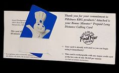 Pillsbury Doughboy Phone Card