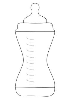 Kleurplaat babyfles Baby Bottle Labels, Baby Bottles, Baby Shawer, 2nd Baby, Boy Baby Shower Themes, Baby Boy Shower, Fall Coloring Sheets, Coloring Pages For Boys, Baby Bottle Warmer