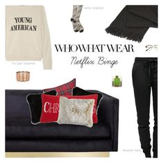 """Netflix Binge"" by amberelb ❤ liked on Polyvore featuring Retrò, The Elder Statesman, Shine by S.H.O, Williams-Sonoma, Natural by Lifestyle Group, Levtex, T By Alexander Wang, Pier 1 Imports and Elvang"