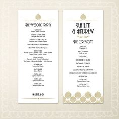 Ecru Starfish Pattern Beach Wedding Program  Patterns Pattern