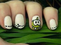 Cut the rope #nail #art Follow Gameoapp.com for game tips, tricks, humor, crafts and more!