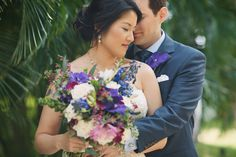 Gorgeous purple and pink bridal bouquet by Dellables - Anna Kim Photography