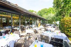 La Terrasse du restaurant le Café la Jatte sur l'Ile de la Jatte à Neuilly sur Seine (92200) #terrasse #restaurant