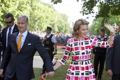 Queen Mathilde King Philippe  21 July National Day in Belgium